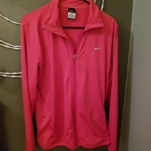 XL Pink Nike dri-fit athletic jacket